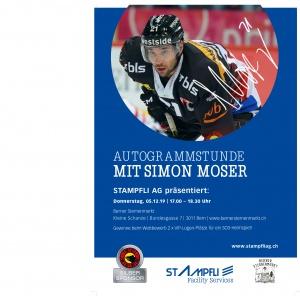 Autogrammstunde Simon Moser SCB