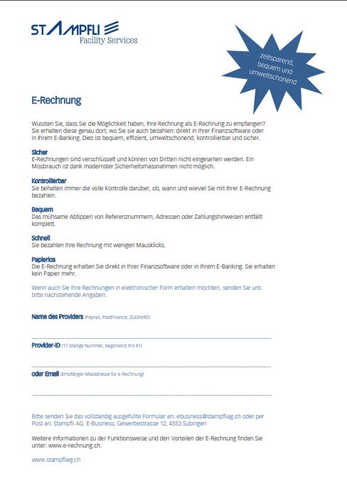 E-Rechnung für Kunden
