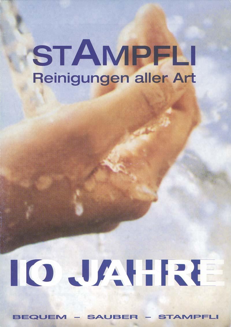 Stampflis Flyer zum zehnjährige Jubiläum in Derendingen